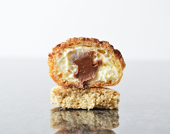 mocha mascarpone cream puffs