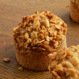cherry oat muffin
