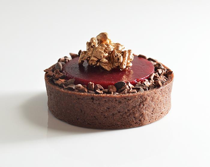 chocolate cherry tart