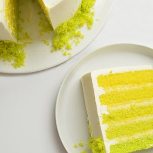 lemon lime ombre cake