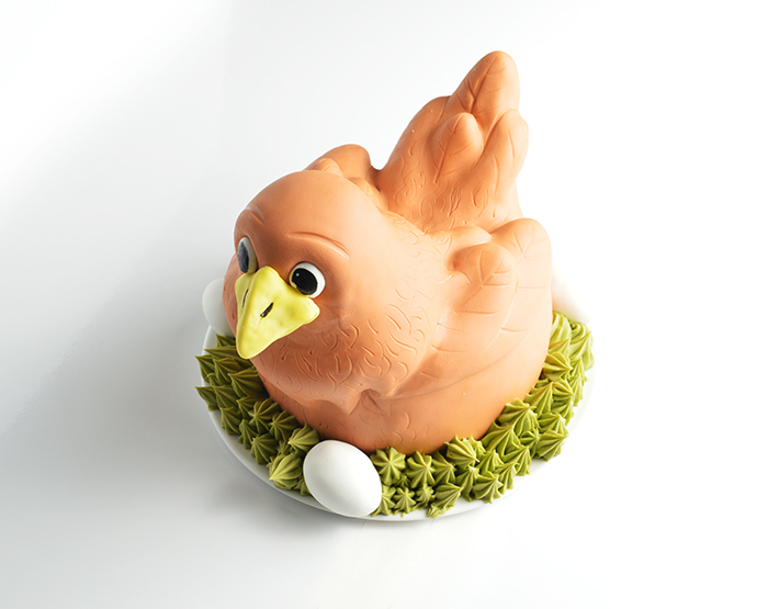 sculpted cake – birthday chicken!