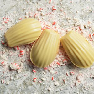 white chocolate peppermint madeleine