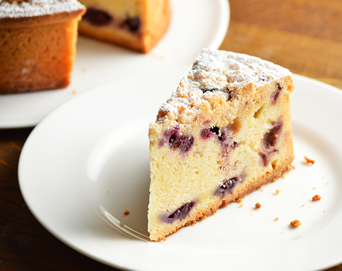 video recipe: blueberry coffee cake